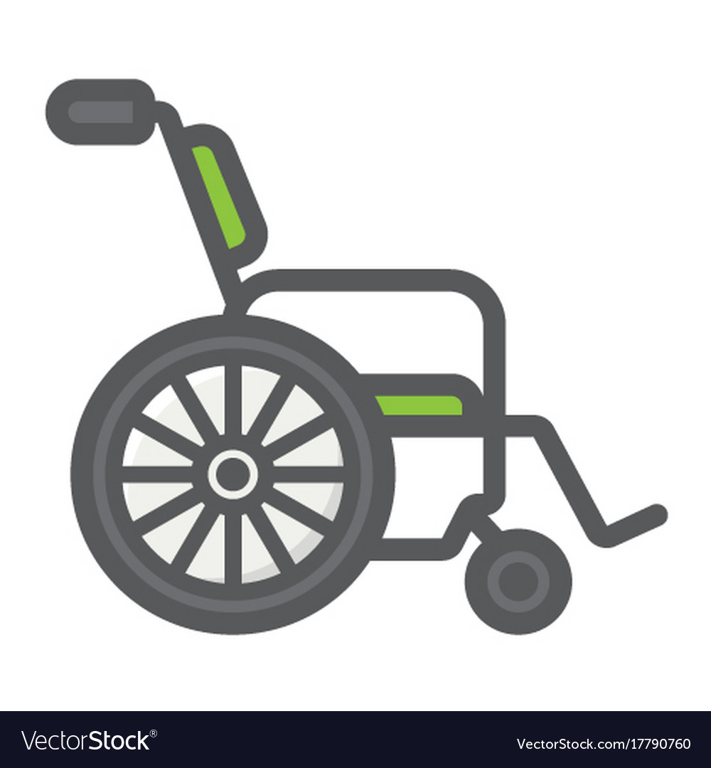 Wheelchair filled outline icon medicine