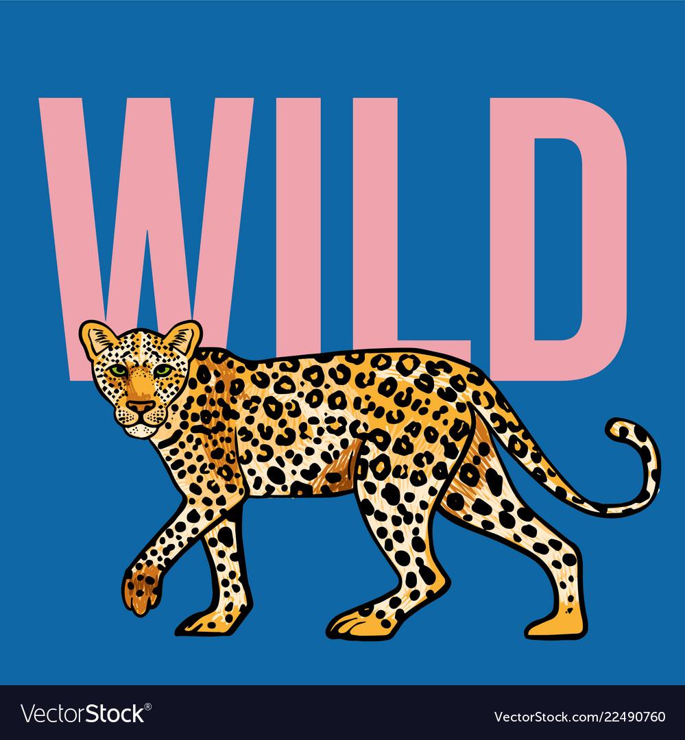 Wild leopard print