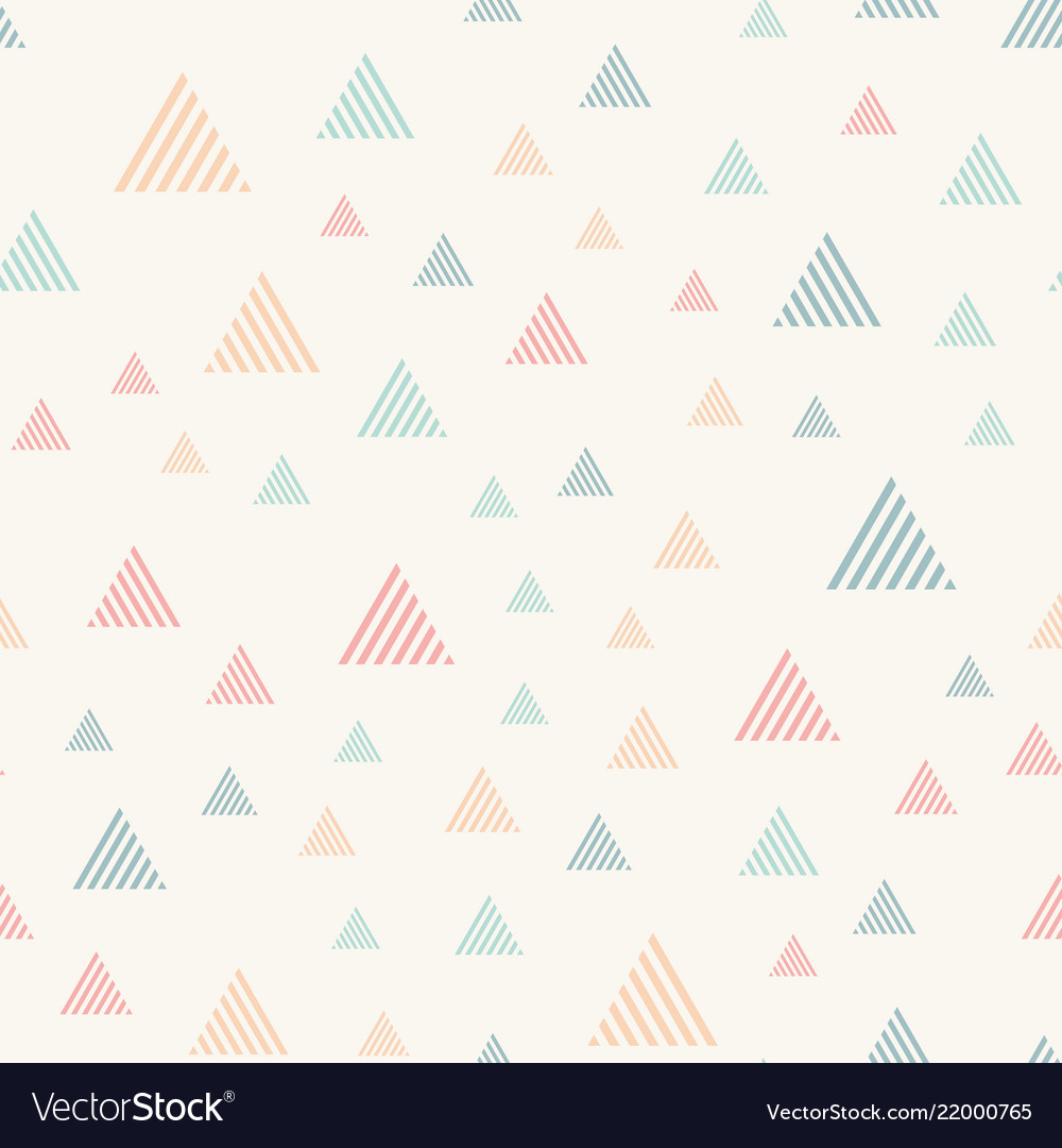 Abstract seamless pattern with triangles pastel