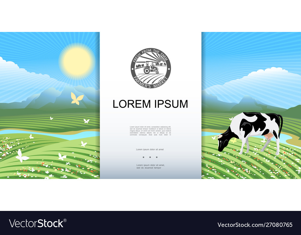 Bright rural meadow landscape background