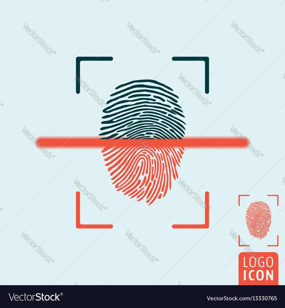 Fingerprint scanning icon