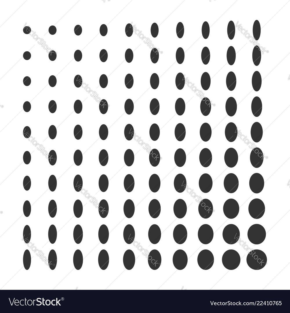 Minimal monochrome dynamic halftone background vector