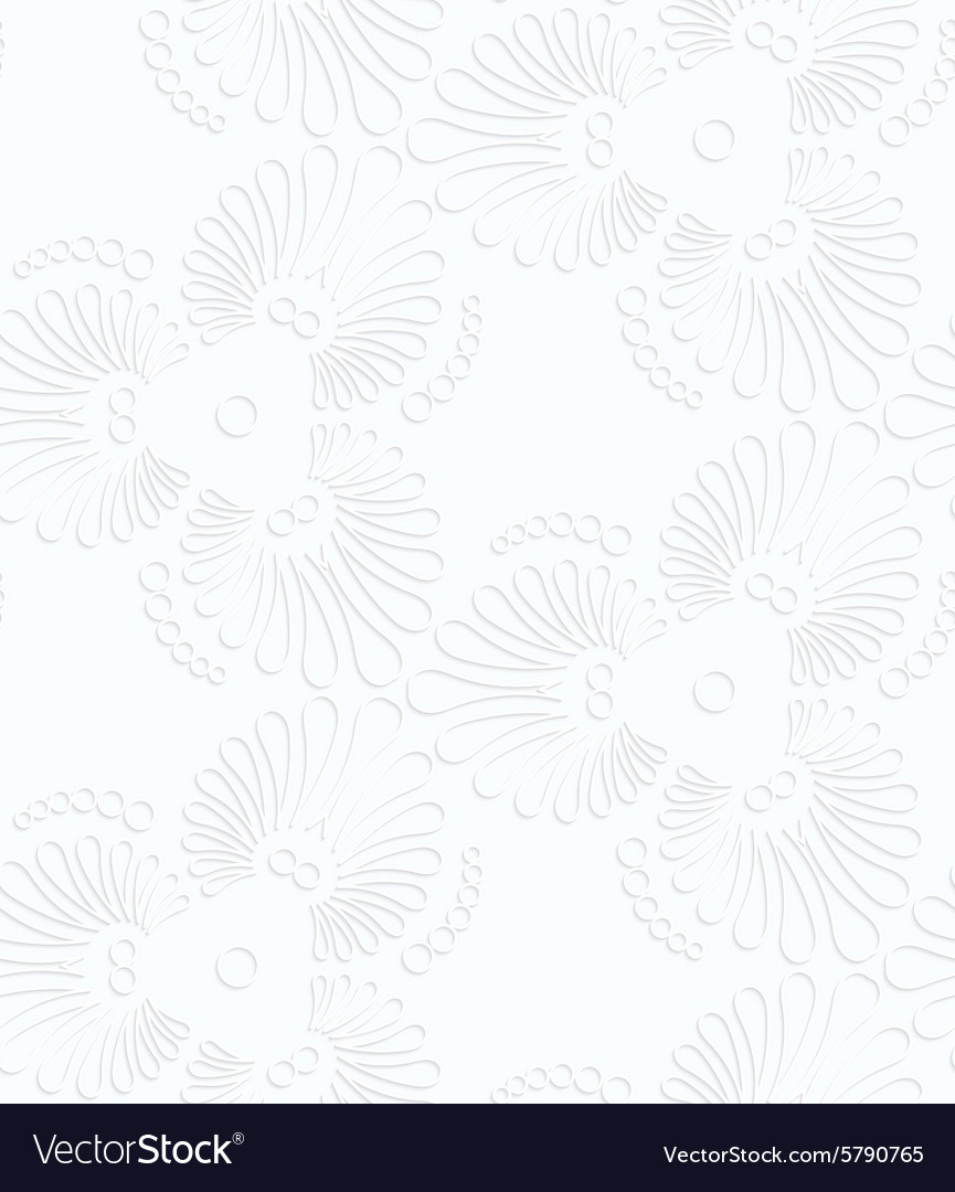 Quilling paper flourish tear drops vector image