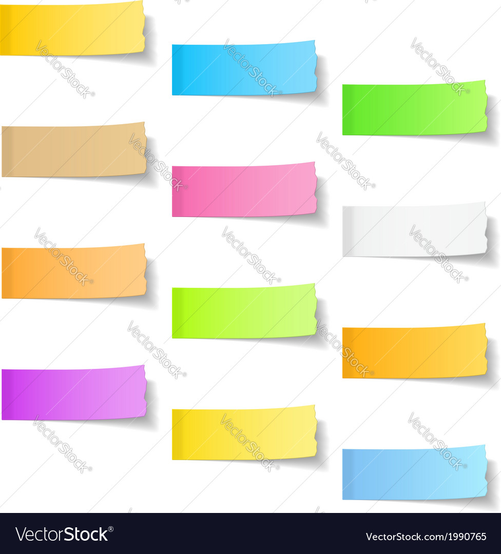 Ripped Sticky Papers vector image