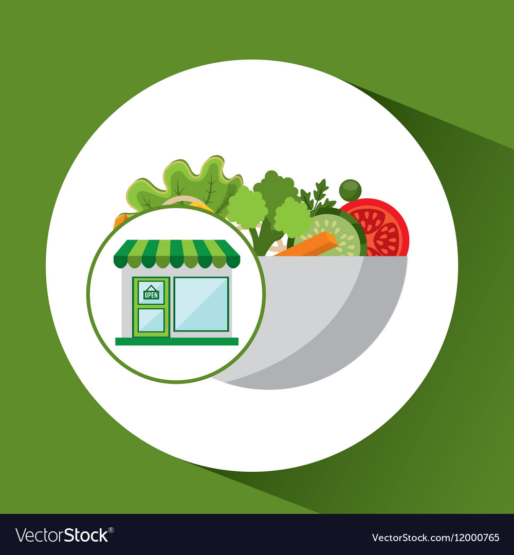 Store fresh vegetables organic