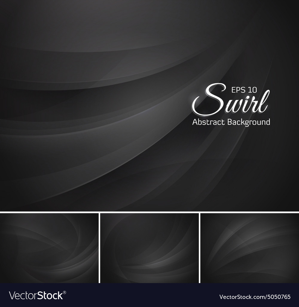 Swirl abstract background - black