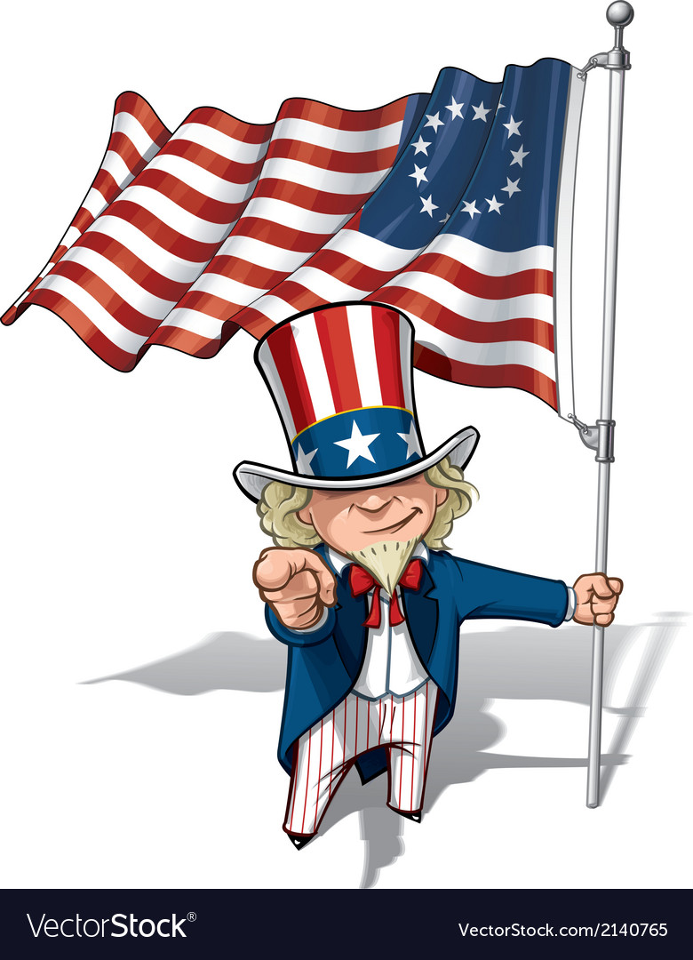 Uncle Sam I Want You Betsy Ross Flag