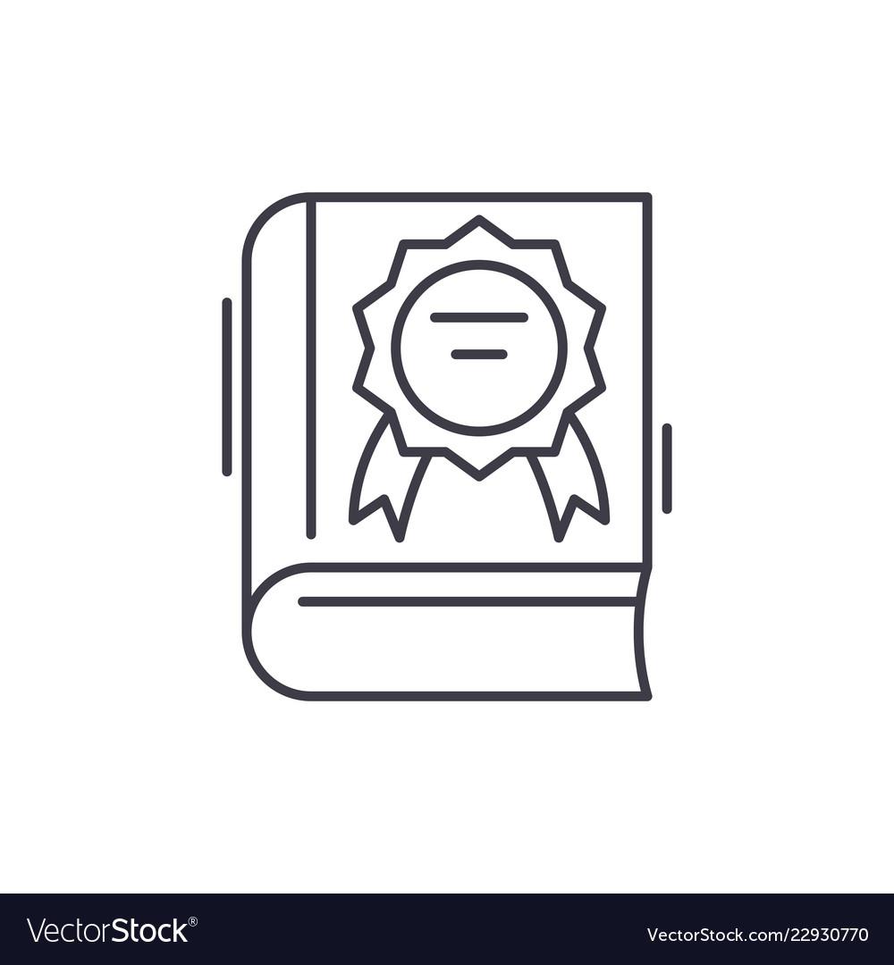 Best seller line icon concept best seller