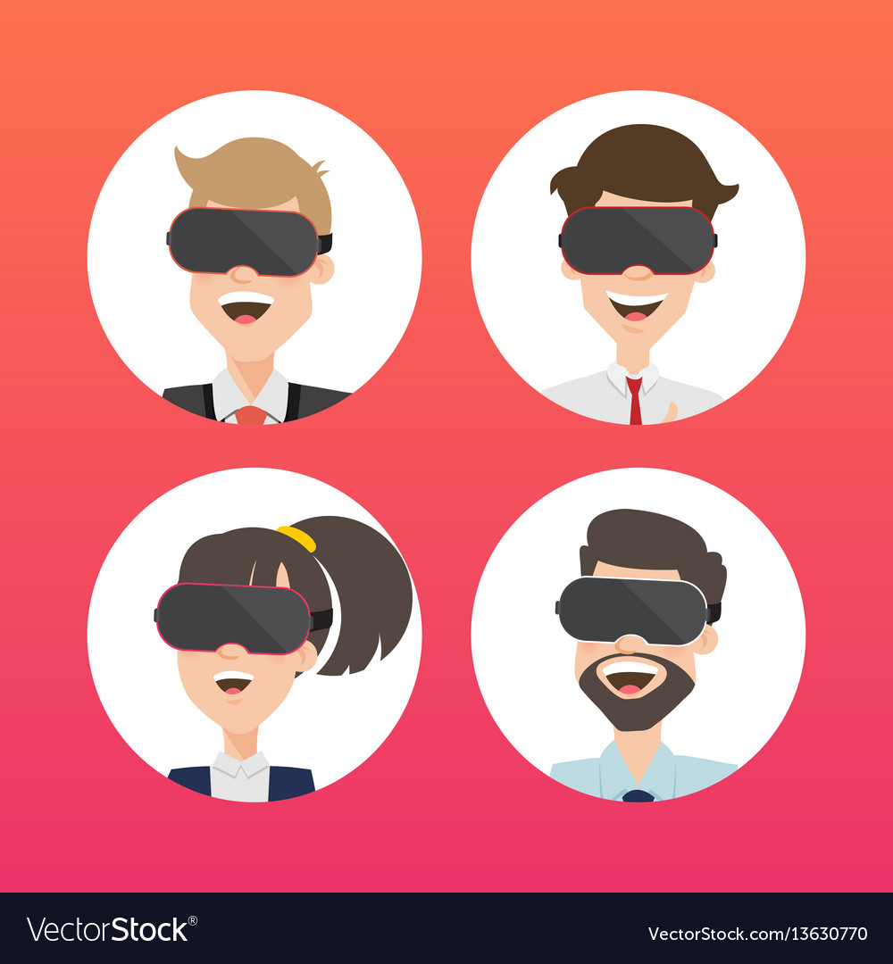 Businessman use virtual reality web page concept