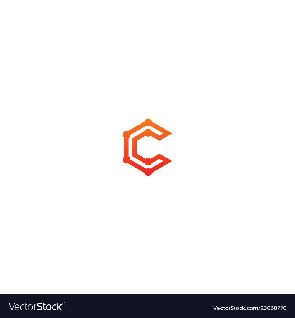 C technology sign business logo