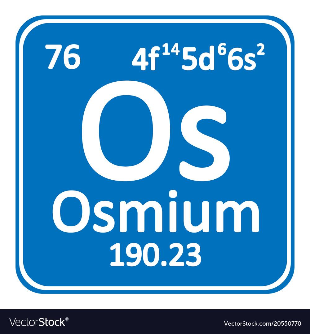 Periodic table element osmium icon royalty free vector image periodic table element osmium icon vector image urtaz Choice Image