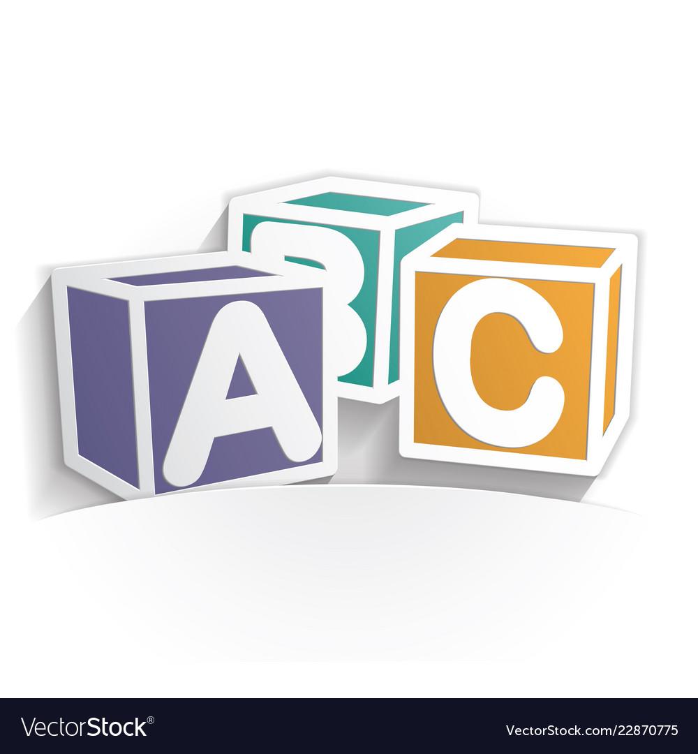 Abc icon paper