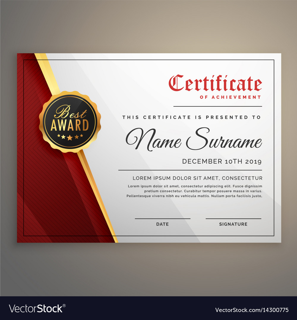 Beautiful Certificate Template Design With Best Vector Image