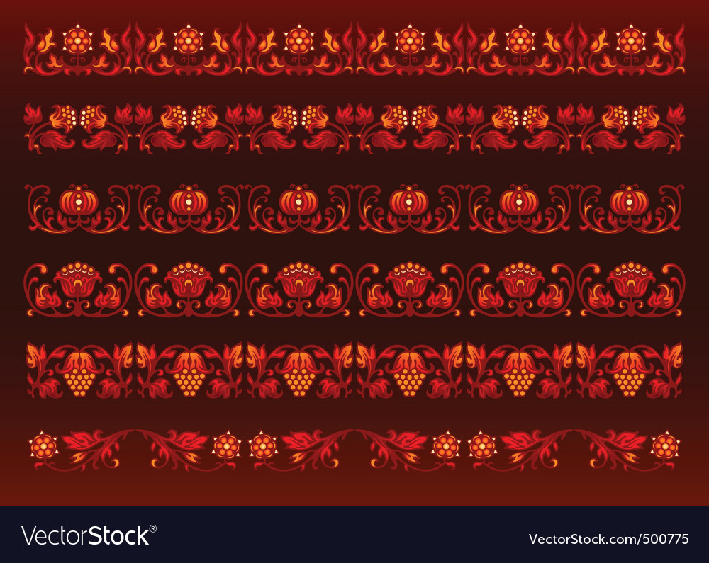 Floral chains design vector image