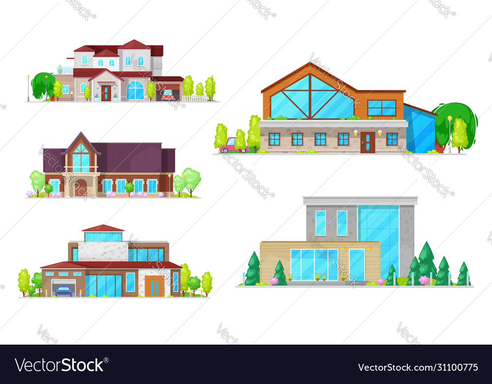 Residential houses villas and mansion buildings