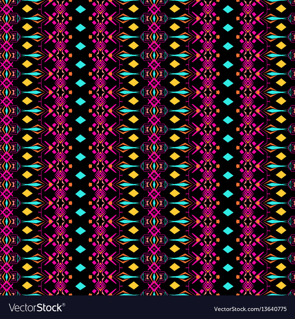 Seamless texture tribal geometric striped pattern