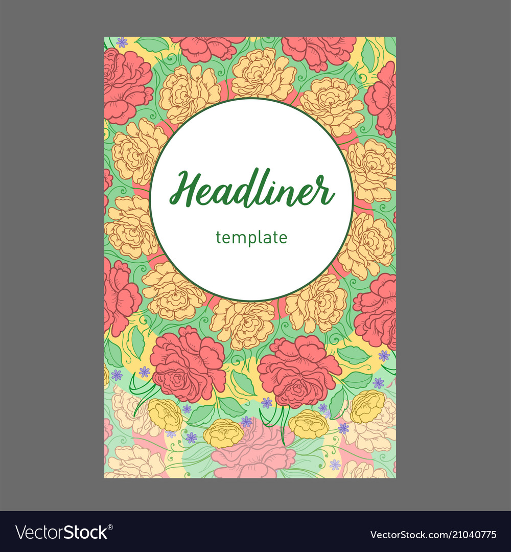 Vintage cards with floral mandala pattern and