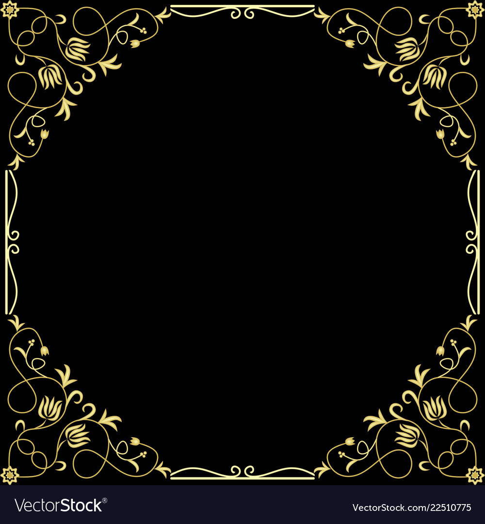 4585e26792f2 Vintage golden banners labels frames Royalty Free Vector