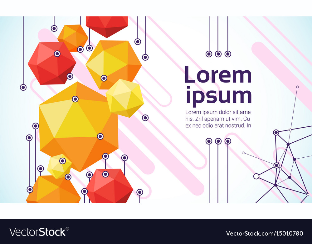 Abstract geometrical background banner copy space