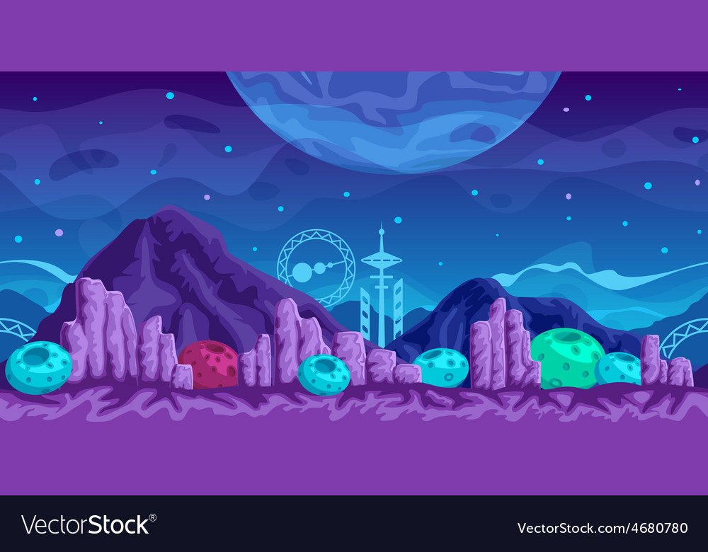 Futuristic Game Background vector image