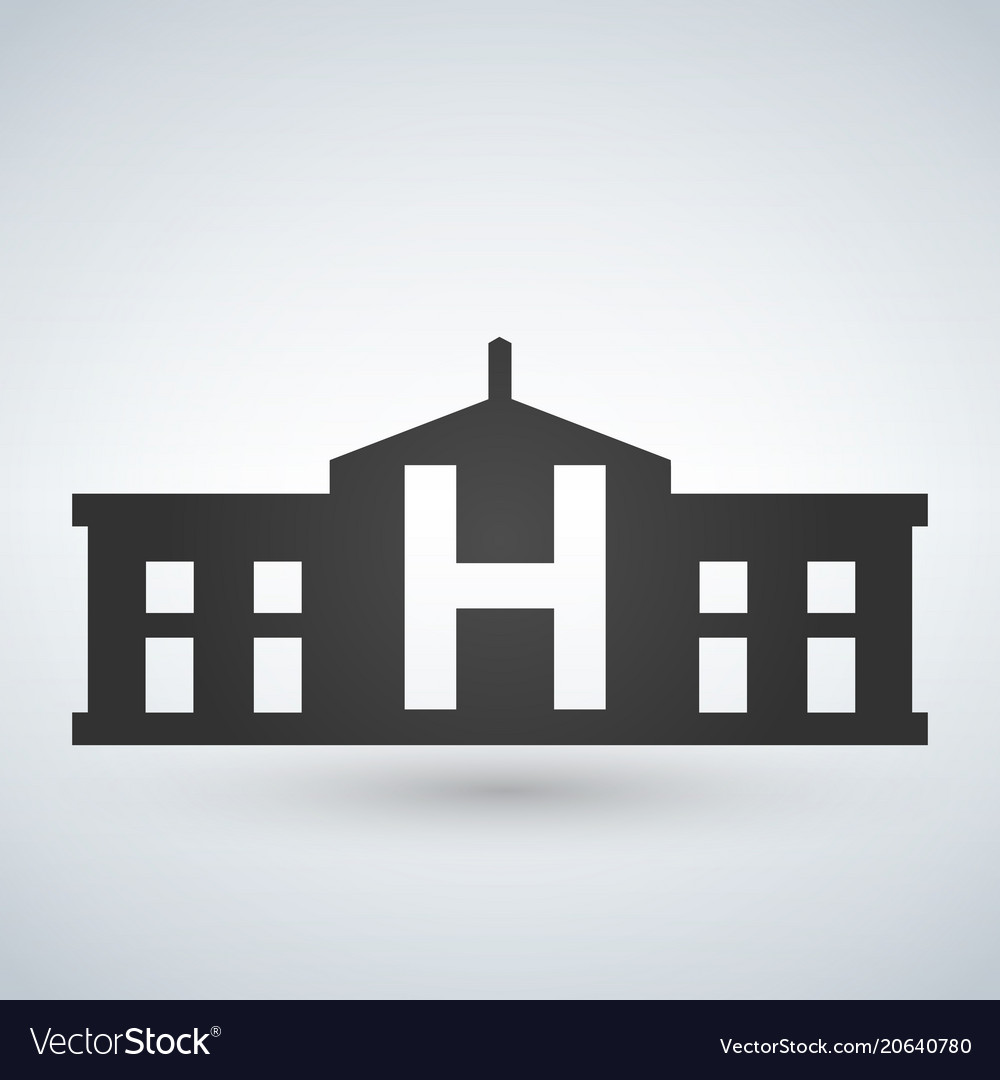 Hospital building icon isolated human medical view