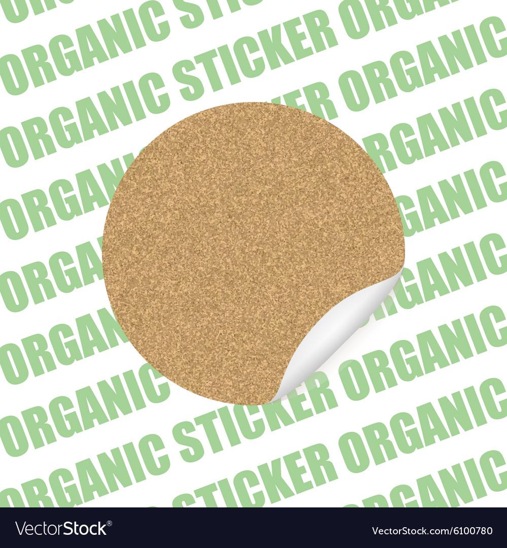 Organic cork natural sticker tag sale label