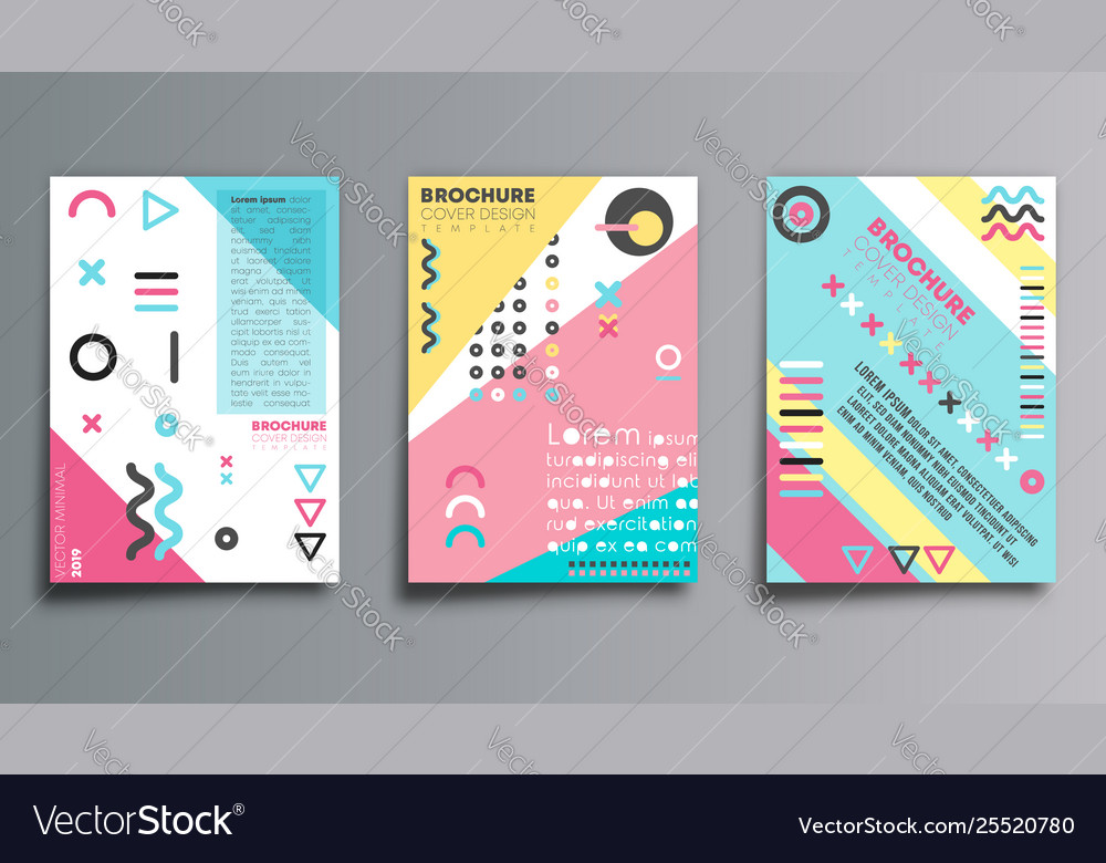 Set memphis design background for banner