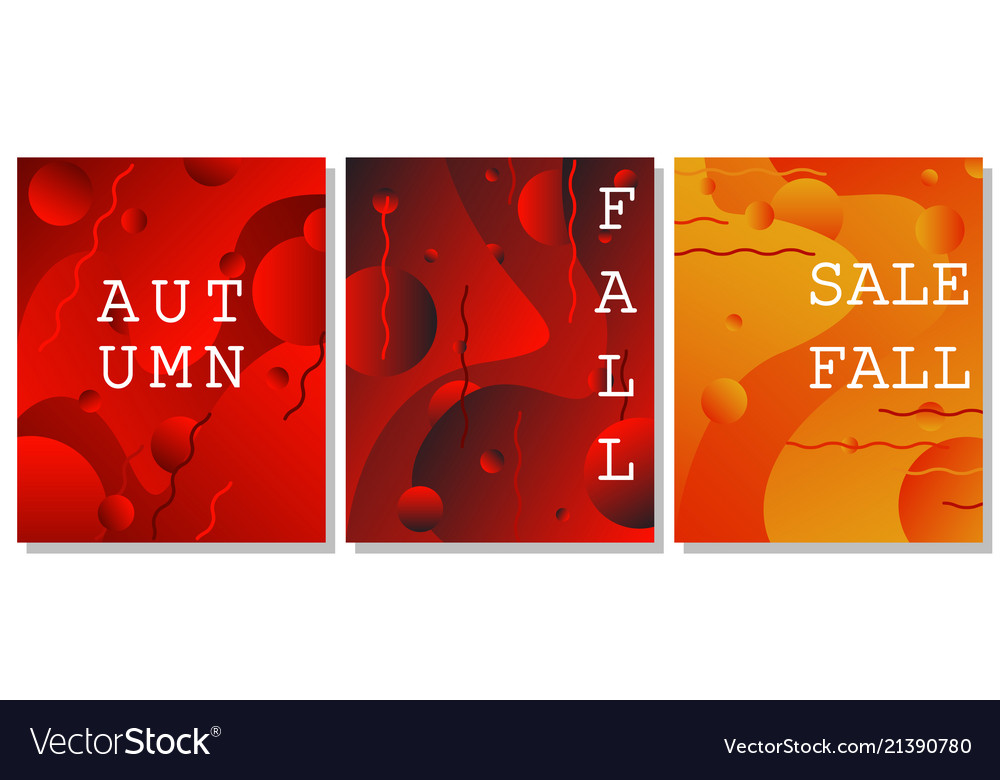 Set of fluid modern backgrounds with lines