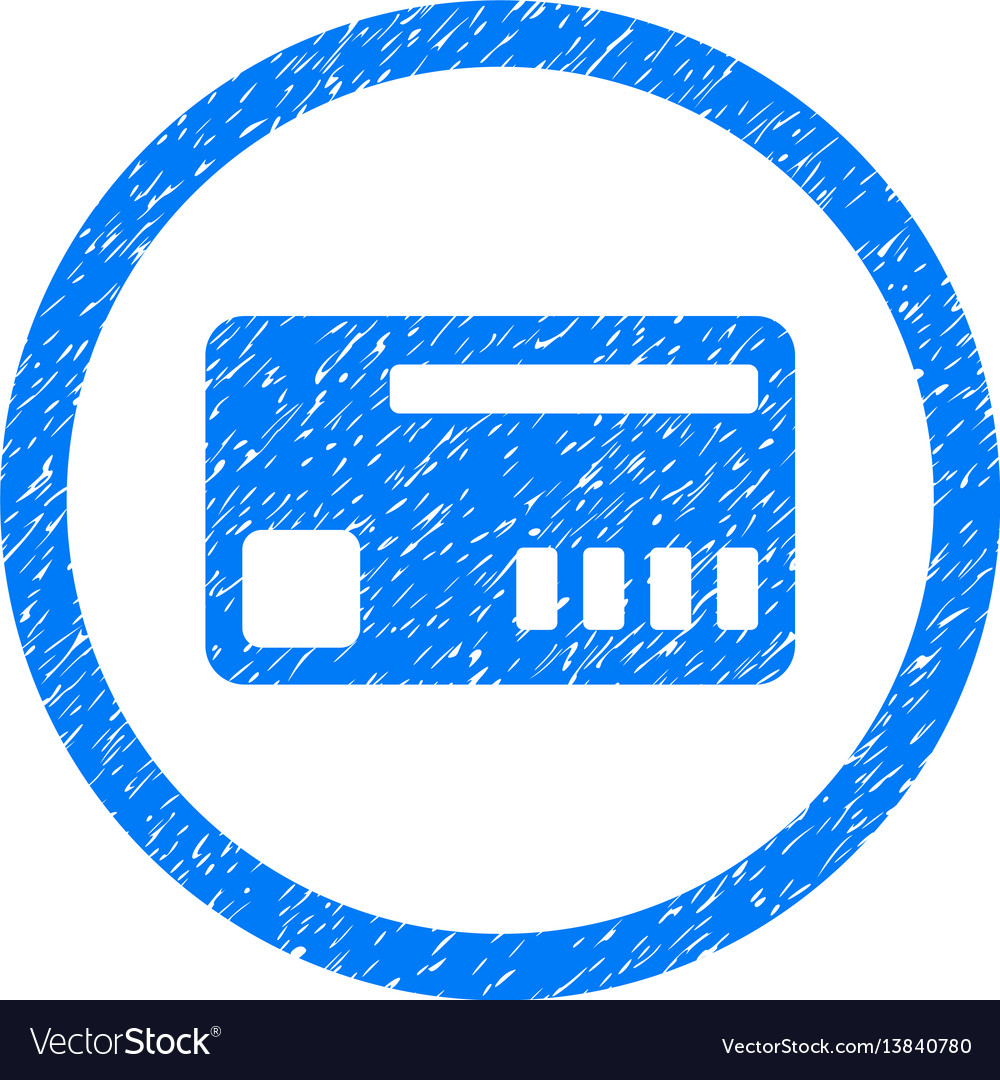 Ticket rounded grainy icon vector image