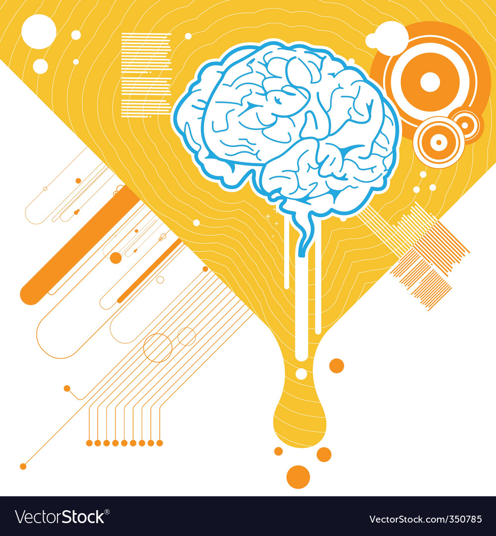 Abstract brain illustration vector image