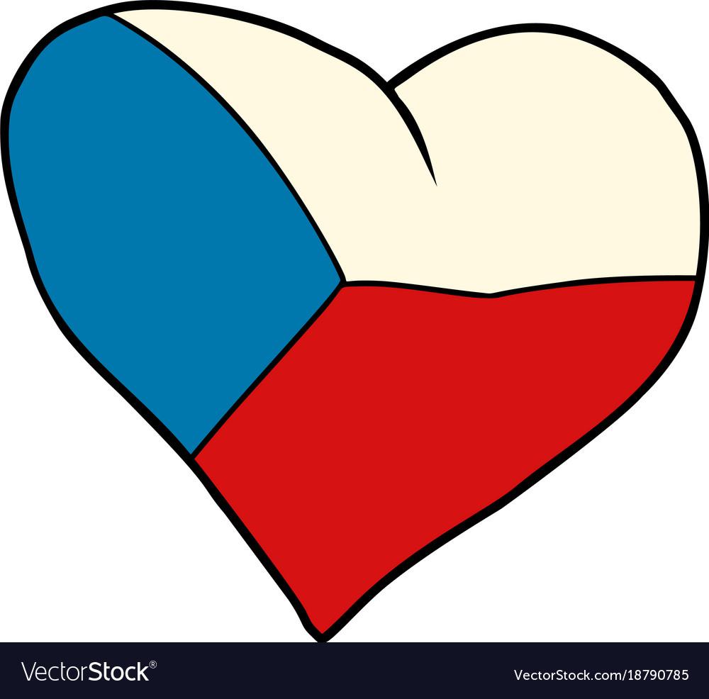Czech republic heart patriotic symbol
