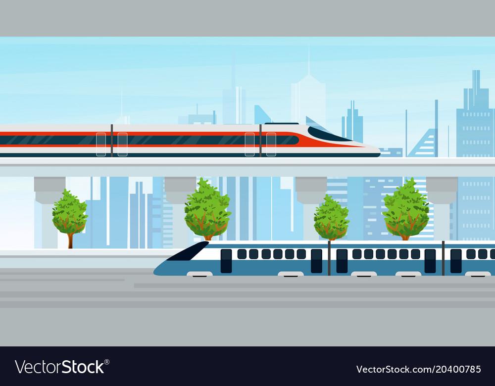 Modern trains go through