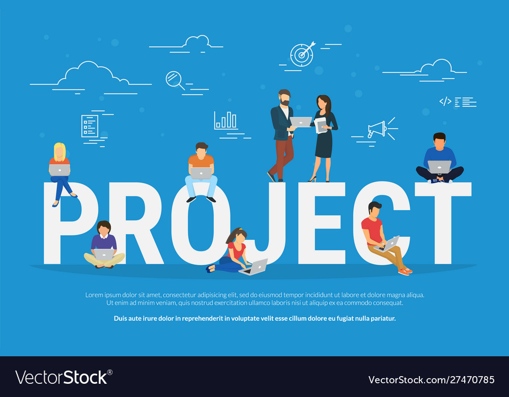 Project concept business people