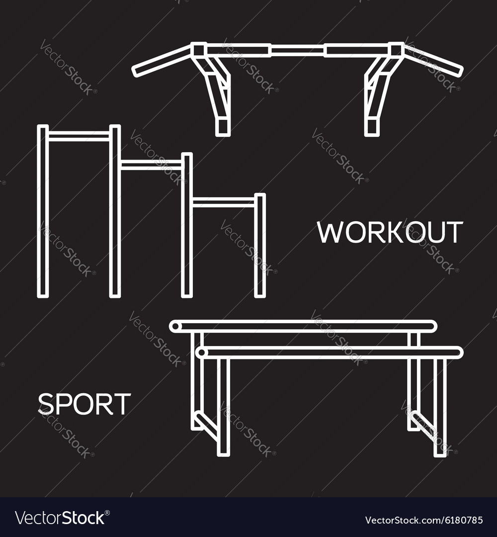 Sports equipment for street workout vector image