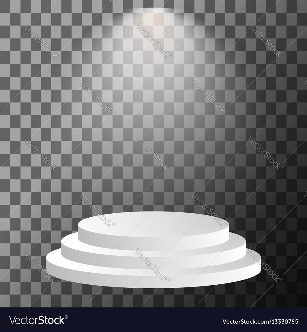 Stage podium illuminated vector image