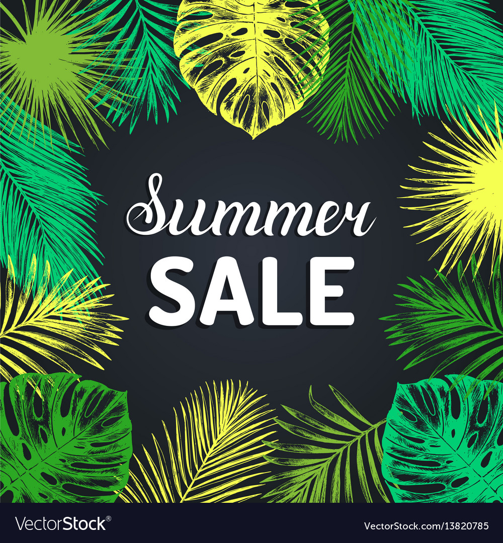 Summer sale background discount card with