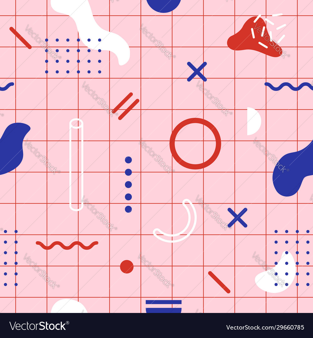 Trendy geometric seamless pattern modern print in