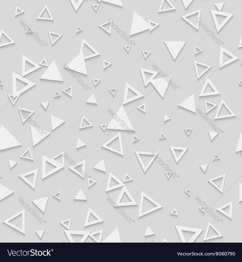 Abstract Geometric 3d White Seamless Pattern