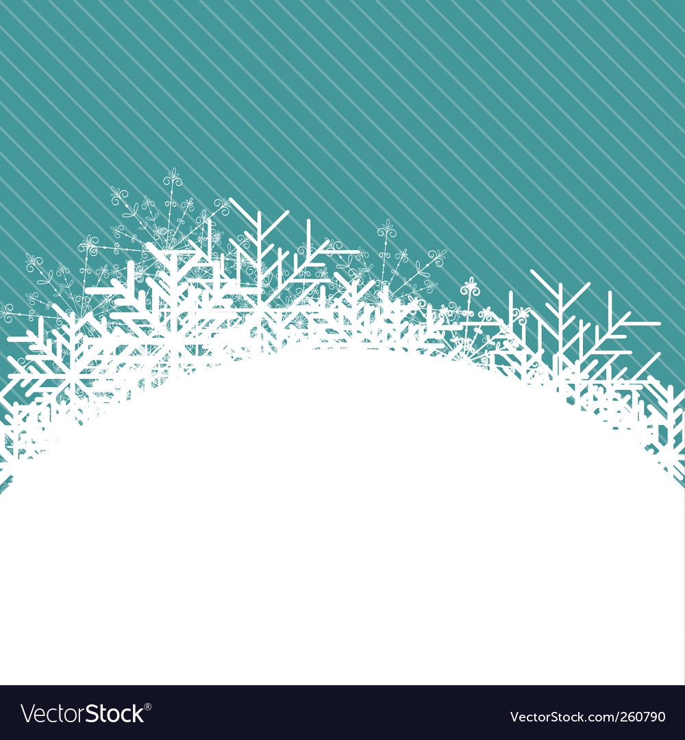 Christmas snowflake illustration vector image