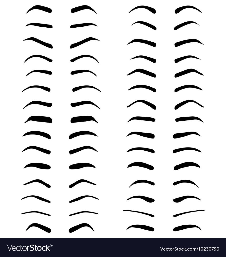 Eyebrows tattoo design vector image