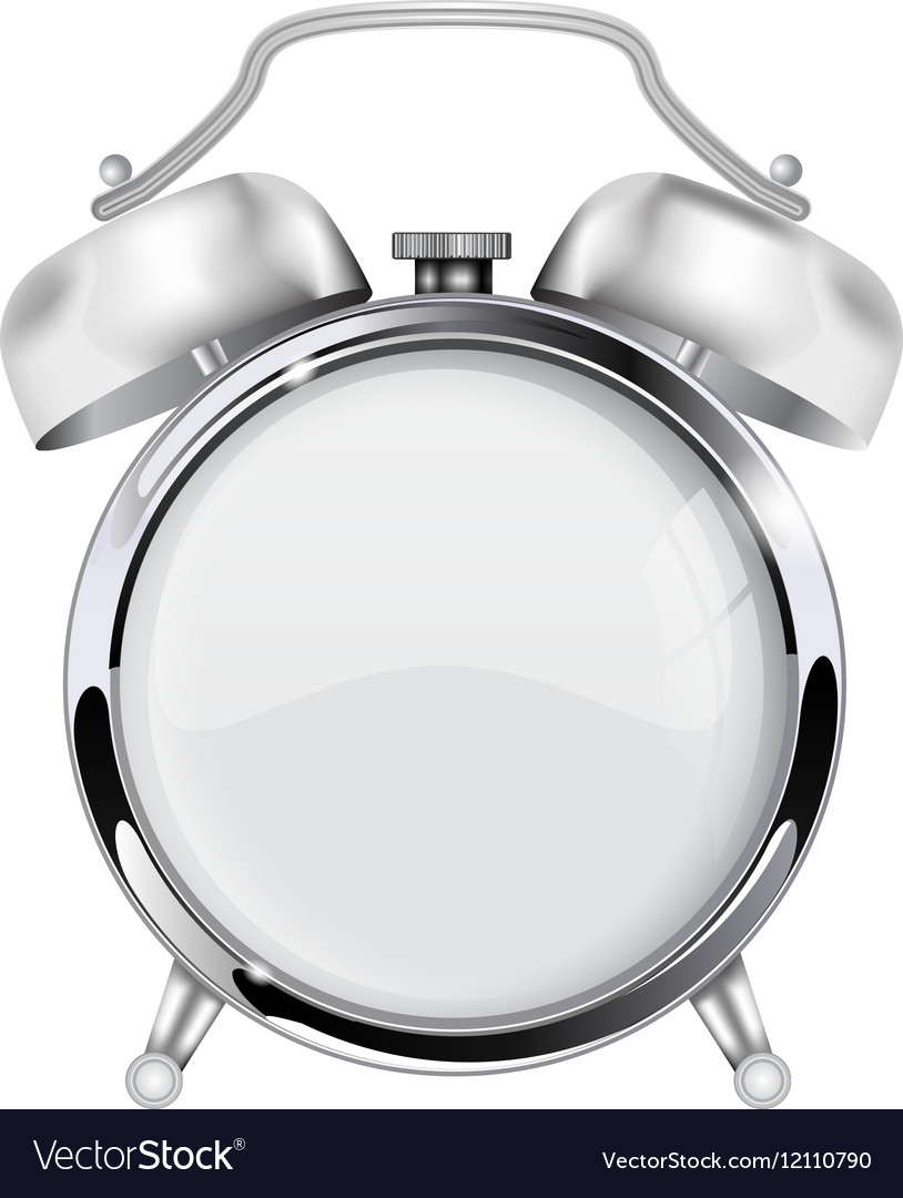 Retro alarm clock with blank clock face vector image