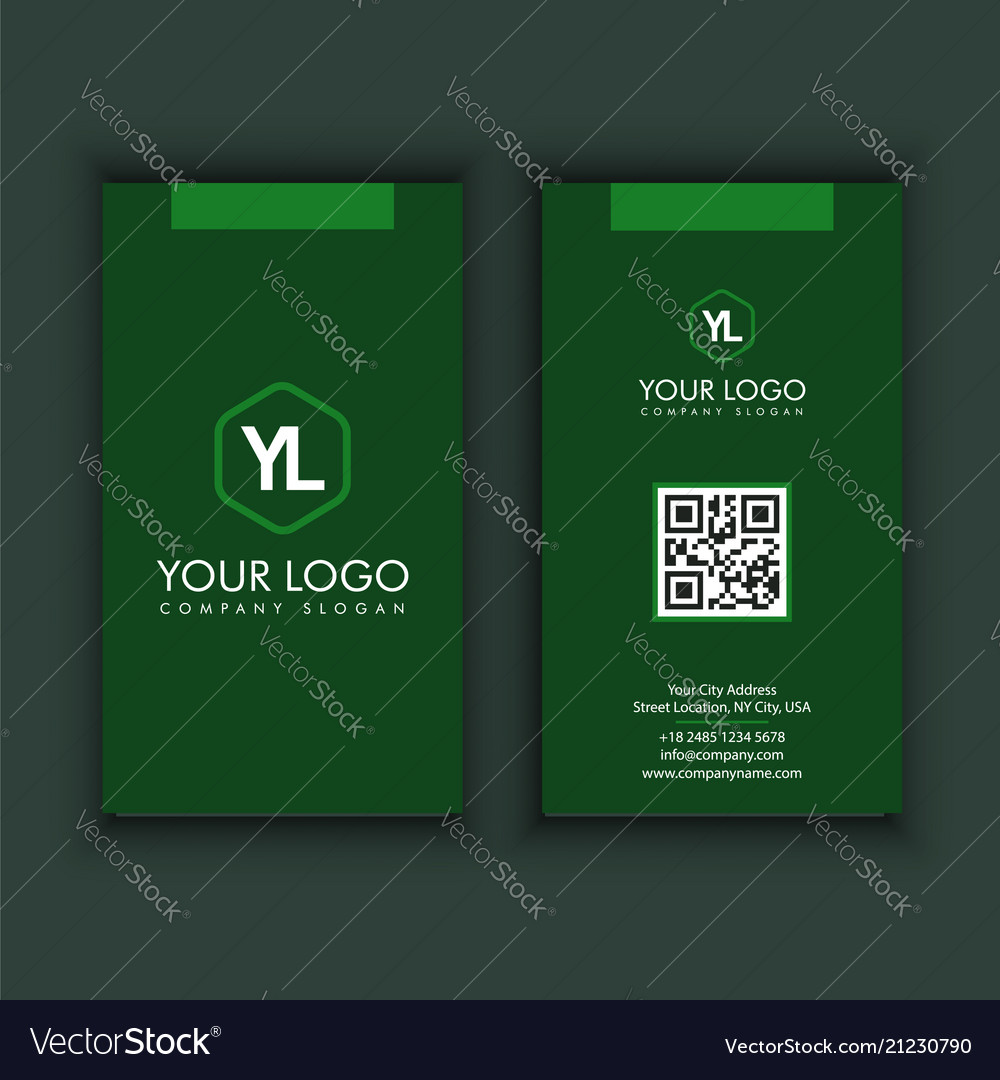 Vertical modern creative and clean business card