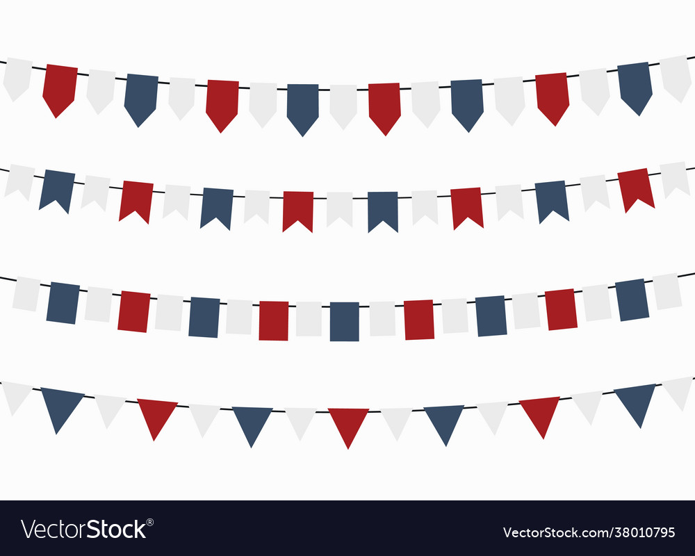 Bunting flags for independence day colors usa