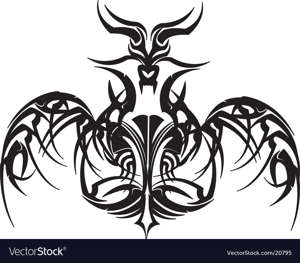 Dragon Tattoo Royalty Free Vector Image Vectorstock