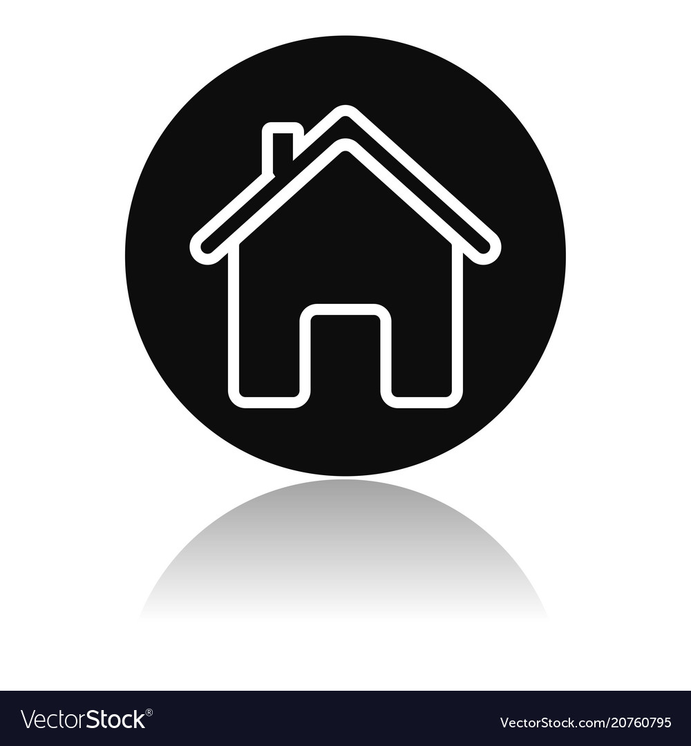 af9f8f9a1144 Home icon outline round black icon of a Royalty Free Vector