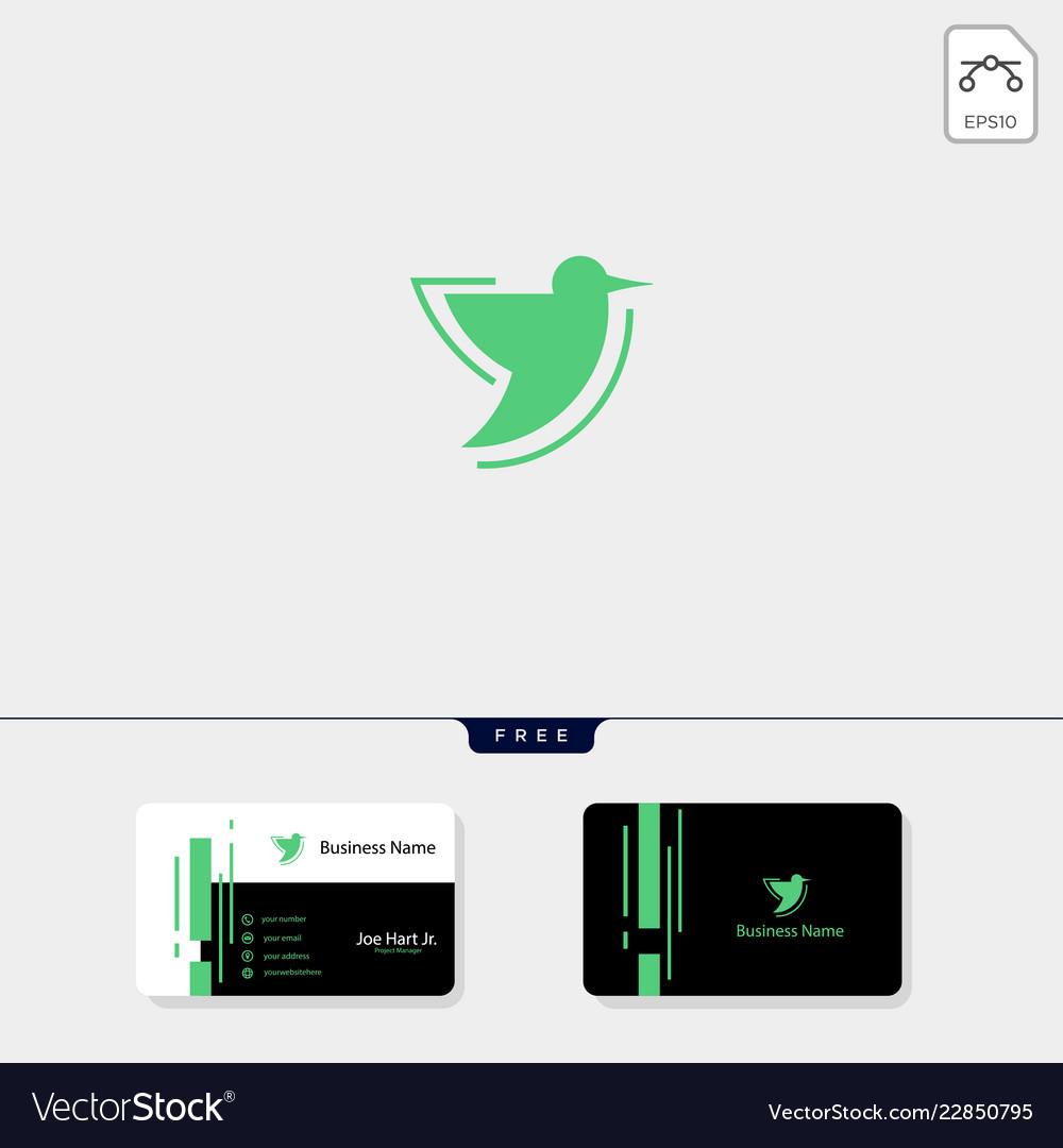 Hummingbird creative logo template free business