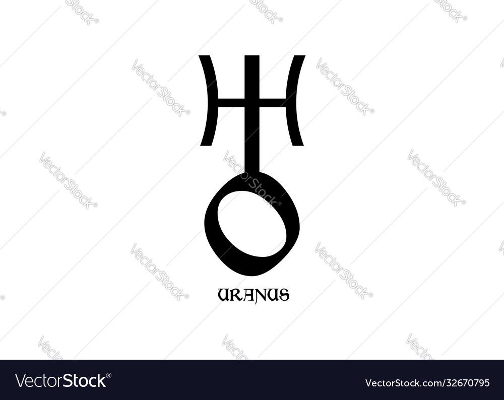 Planet symbol sign uranus symbol