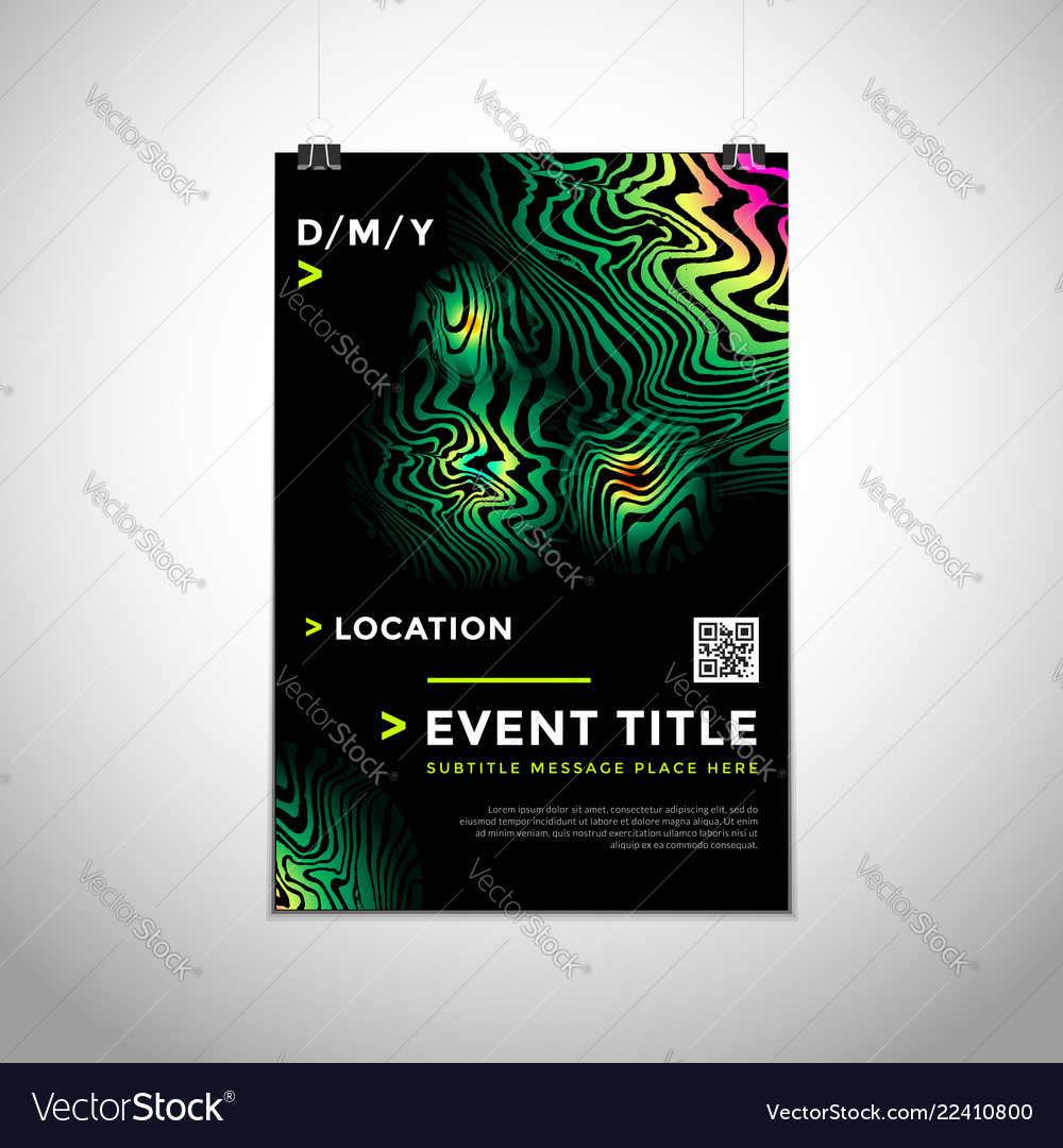 Abstract background poster design