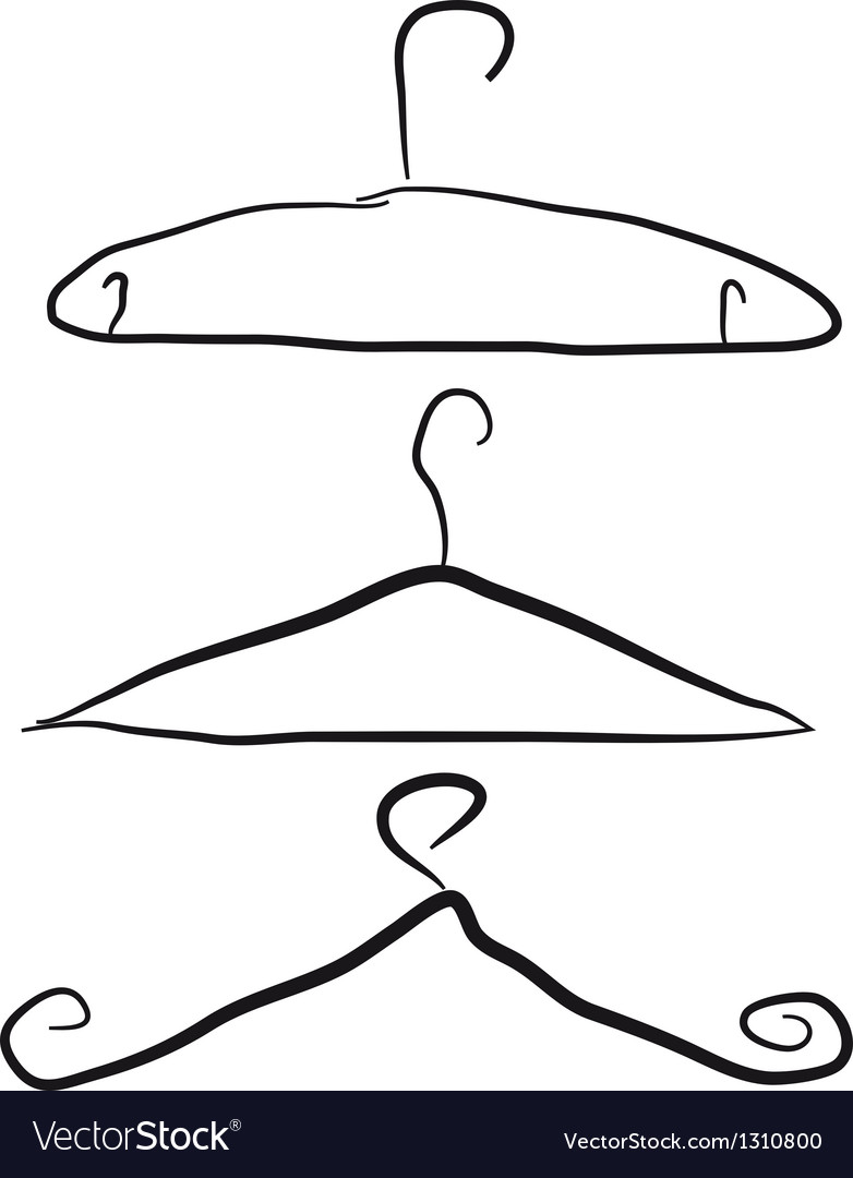 Black hangers isolated over white background
