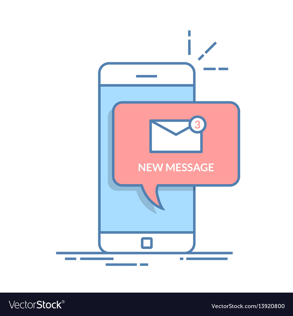 Notification of a new email on your mobile phone